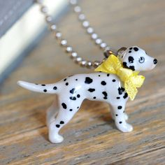 Undercover Undercover Dalmatian Charm Necklace ($32) ❤ liked on Polyvore featuring jewelry, necklaces, charm jewelry and charm necklaces