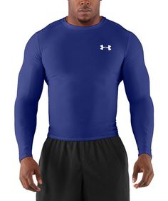 Take a look at this Royal HeatGear® Compression Long-Sleeve Tee by Under Armour® Men on @zulily today!