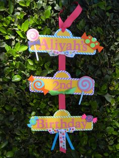 Sweet Shoppe or Candyland Party Sign by YourPartyShoppe on Etsy Candy Theme Birthday Party, 2 Birthday, Candy Land Theme, 6th Birthday Parties, Candy Party, Cupcake Party, Birthday Ideas, Party Signs, Green Turquoise