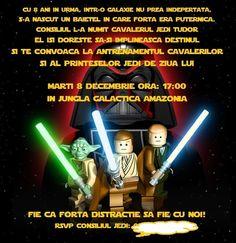Invitatie petrecere de aniversare Star Wars