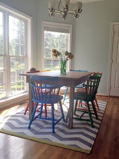 dinning table with cute chairs.....