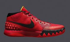 Nike Kyrie 1 Deceptive Red Mens Basketball Shoes 11.5 Crimson Black 705277 606…
