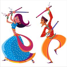 The spirit of the Dandiya dance, as part of the Navratri festival in India, now on your walls!    This is a colorful, easy-to-apply wall-sticker.    More designs available, only on www.gloob.in