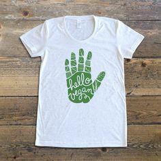 Vegan Shirt - Hello Vegan - Vegan T-Shirt – The Dharma Store