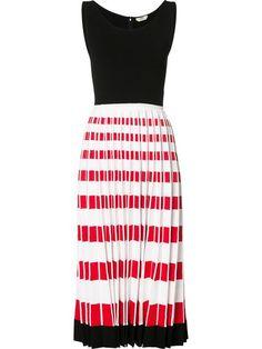 FENDI pleated stretch-knit midi dress. #fendi #cloth #dress