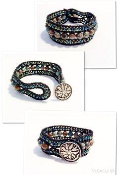 """Armband  """"Chan Luu"""" Style mit Jade-Perlen von Tessie's  Schmuck & Deko auf DaWanda.com"""