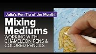 Julia's top tips on working with Chameleon Pens and coloured pencils.  #chameleonpens #colour #color #colouring #coloring #marker #pen #alcoholmarker #pencil #mixed #media #mediums #colortones #tips #techniques #art #depth #dimensions #gradating #one #pen #blends