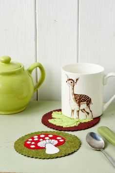 You'll love this quick-to-make woodland coasters (Sew, issue 63)