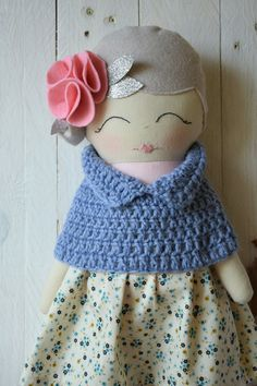 Rag Doll Cloth Doll Handmade Doll Gift for by GioCrochetAndMore