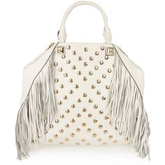 Rebecca Minkoff Ryland fringed leather tote ($263) ❤ liked on Polyvore