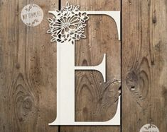 Floral Letter 'E' SVG PDF Design - Papercutting Vinyl Template Commercial Use - Papercut - nursery papercut - new baby papercut