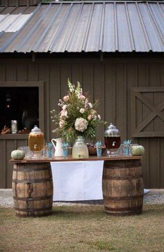 Great idea for a picnic, party, wedding reception or any outdoor celebration.