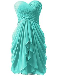 KISSBRIDAL Women's Strapless Blue Cocktail Prom Dresses F...