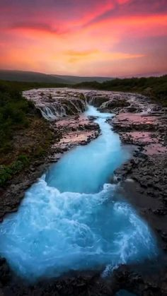 magical & amazing sunset in Iceland