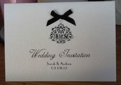 Wedding invitations (http://www.ebay.co.uk/itm/50-x-Handmade-Personalised-Wedding-Invitations-vintage-style-many-colours-/121108127191?pt=UK_Home_Garden_Celebrations_Occasions_ET&hash=item1c329b5dd7)