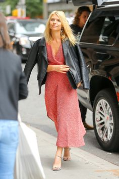 Claire Danes Does Biker Jacket Dressing the French Way