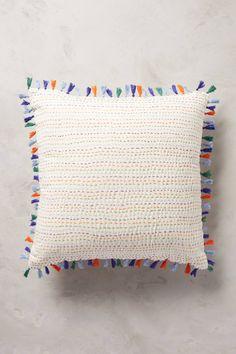 Tasseled Kantha Pillow - anthropologie.com