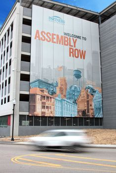 Parking Garage Scrim Wall Graphics Design By Forseer on Amazing Garage Ideas 7327 Experiential, Signage, Graphics, Graphic Design, Garage Ideas, Architecture, Amazing, Wall, Branding
