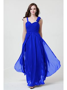 Floor-length+Chiffon+Bridesmaid+Dress+-+Ruby+/+Fuchsia+/+Regency+/+Royal+Blue+/+Pool+/+Daffodil+/+Black+/+Silver+Sheath/Column+Straps+-+AUD+$71.49