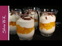 Blitz dessert / peach dessert / without gelatin / dessert - dessert Tiramisu Dessert, Thermomix Desserts, Peach, Gelatine, Blitz, Puddings, Youtube, Restaurant, Deserts