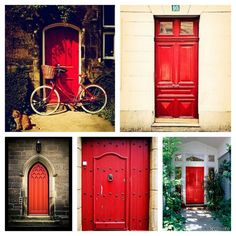 """When an Episcopalian church door is painted red, that means the church is paid for! Just a little piece of church trivia for you!""  Didn't know this.  Interesting!  Love all the red doors."
