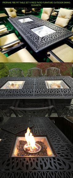 Propane Fire Pit Table Set 9 Piece Patio Furniture Outdoor Dining Elisabeth  #technology #furniture #drone #shopping #camera #9 #set #patio #gadgets #tech #racing #products #piece #parts #kit #plans #fpv