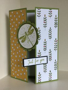 Awesomely Artistic stamps used here with Wildflower Fields papers on this gate-fold card - created by Julia Jordan