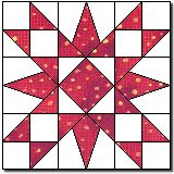 Sew Block Quilt Florida Star - this is Jane's block - she left out the four patches in the corner Quilt Square Patterns, Barn Quilt Patterns, Square Quilt, Pattern Blocks, Big Block Quilts, Star Quilt Blocks, Star Quilts, Scrappy Quilts, Quilting Projects
