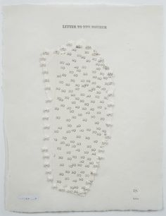 Elena del Rivero, Letter to the Mother, 2000, mixed media on paper ... Laura Mitchell, Contemporary Artists, Letters, Paper, Mixed Media, Madrid, Art Text, York, Handwriting
