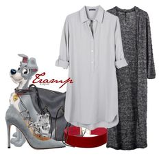 Tramp (Lady and the Tramp) by claucrasoda on Polyvore featuring polyvore fashion style United by Blue Taylor Valentino Ina Kent Free Press clothing