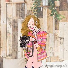 French Illustration, Paris Illustration, Plant Illustration, Photo Illustration, Camera Illustration, Cute Little Drawings, Cute Drawings, Camera Cartoon, My Little Paris
