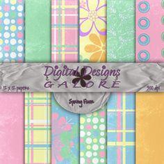 Spring Fever Digital Paper Pack