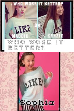 Who wore it better? Comment below who u think!! First to get 4 wins.      Kenzie