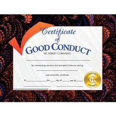 Girl scout award certificate template outstanding volunteer good certificate designs student certificate of good conduct teaching supplies yadclub Images