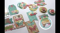 DIY Embellecedores con scraps ...... DIY scrapbook embellishments * Crea...