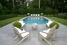 Beautiful gardens of a classic home in Greenwich, CT.