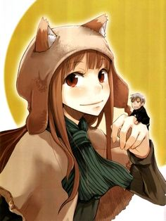 Spice and Wolf (Kraft Lawrence, Horo) Spice And Wolf Holo, Wolf Deviantart, Wolf Ears, Wolf Artwork, Wolf Wallpaper, Anime Wolf, Manga, Dark Souls, Anime Style