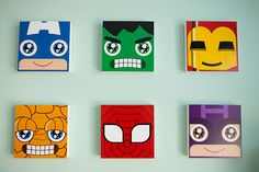 superhero nursery wall art
