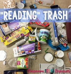 """Classroom Tested Resources: """"Reading"""" Trash Emily over at Curious Firsties has a great lesson on making inferences based on Tanny McGregor's great strategies to help students make connections and comprehend text!"""