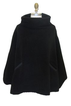 Tortuga Poncho in Black Bear (O/S)