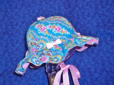 Baby Sunhat Blue and PInk with Bows by AdorableandCute on Etsy, $25.00