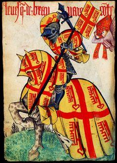 Héraldique médiévale : le Grand Armorial Équestre de la Toison d'Or - Evêque de Beauvais
