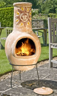 clay chiminea - Google Search