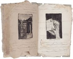 James Castle, Untitled (matchbox), undated; 24 pages; found paper, soot, string; 7¼ x 5½ inches; courtesy Lawrence Markey, San Antonio