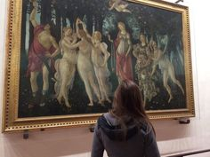 The Uffizzi in Florence, home to amazing Botticelli works! Love Birds, Florence, Things To Come, Italy, Amazing, Places, Painting, Art, Art Background