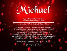 Michael Name Meaning - First Name Creations