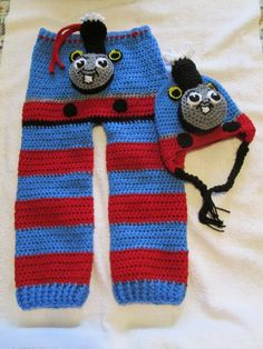 Thomas the Tank Engine Train Monster Butt Pants and matching Hat Set