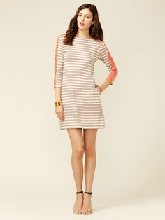 Oonagh by Nanette Lepore Eskil Lace Trimmed Jersey Shift. Stripes updated
