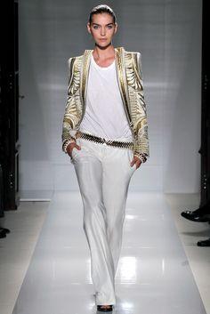Balmain Spring 2012 Ready-to-Wear Fashion Show - Arizona Muse (Next)