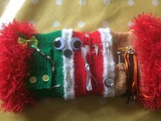 Twiddle Muff- Gentleman's DIY Themed  In Christmas Colours Activity Alzheimer's
